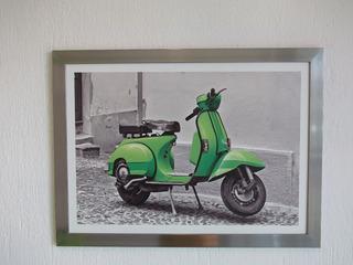 Cuadro Impresion En Placa De Pvc Scooter Poster Motocicleta