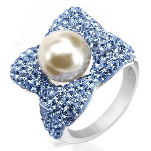 Anillo De Plata Con Perla Y Cristales 02267781