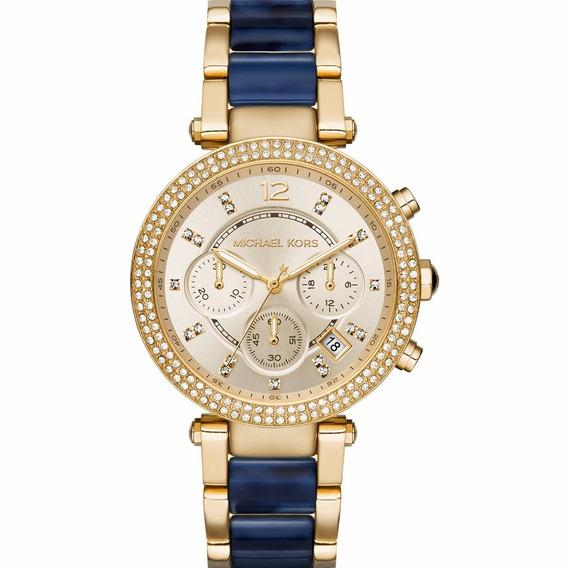 Relógio Michael Kors Feminino Parker Mk6238/4dn Dourado