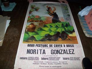 Anuncio, Poster, Bailaora España, Impecable Estado Antiguo