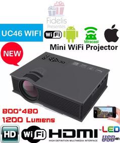 Mini Projetor Wifi Profissional 1200 Lum Miracast Uc46