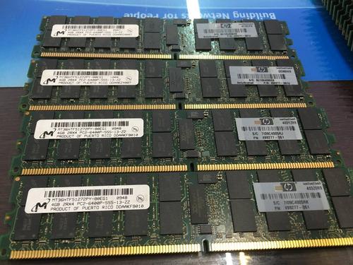 Imagem 1 de 6 de Memoria Ecc Reg 4gb Pc2-6400p Hp 499277-061 M393t5160qza