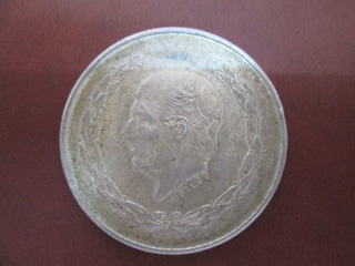 Moneda Antigua Hidalgo 5 Pesos Grande Plata Ley .720