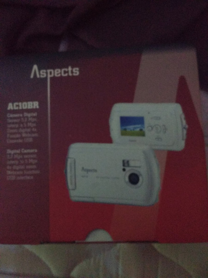 Camera Digital Ac10br Aspects Completa 1gb Carregador