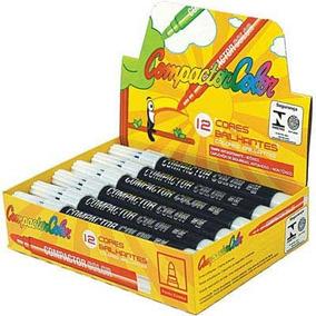 Pincel Compactor Color Preta Cx/ 12un Compactor