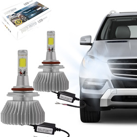 Kit Modelo Xenon Led Lampada H8 6000k Super Branca Headlight