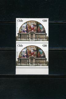 Sellos Postales De Chile. 180 Años De La Corte Suprema.
