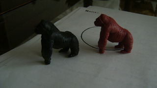Antiguos 2 Gorilas Juguete Tipo Eg Toys La Selva Ind Arg 127