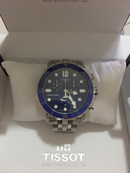 Relógio Tissot Seastar 1000 Azul Pulseira Metal