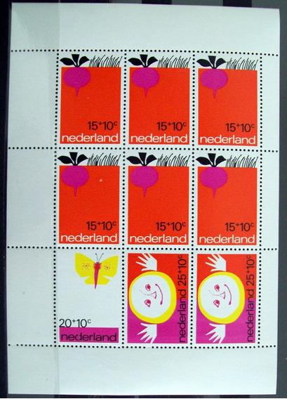 Holanda, Bloque Sc. B478a Ayuda Infantil 1971 Mint L5992