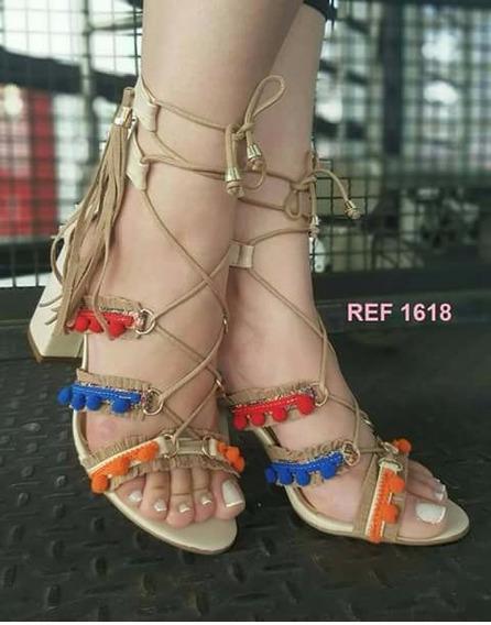 Sandalia Gladiadora Em Couro Sapatos