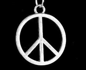Pingente Hippie Simbolo Da Paz Com Cordão