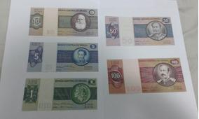 Lote De 5 Notas Antigas De Cruzeiros