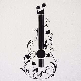 Adesivo Violão Música Rock Sertanejo Samba Quarto Sala