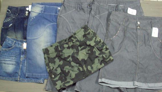 Lote 7 Mini Saias E Saias Longas Jeans - Adulto - Xy13