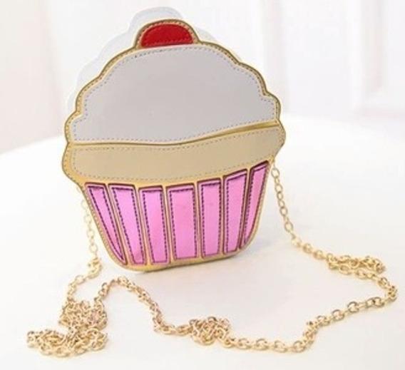 Bolsa De Festa Feminina Cupcake Alça Corrente