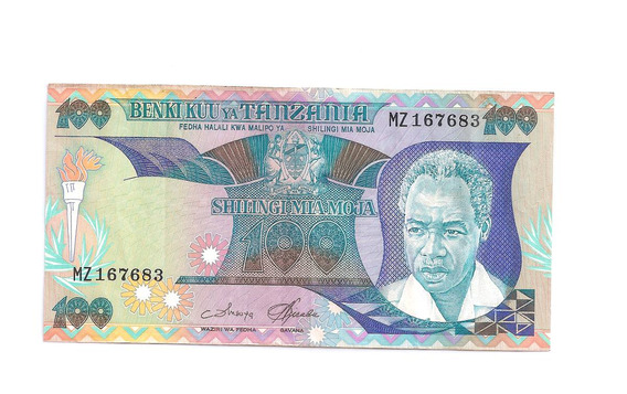 Cedula Estrangeira- Tanzania 100 Shillings - Sob