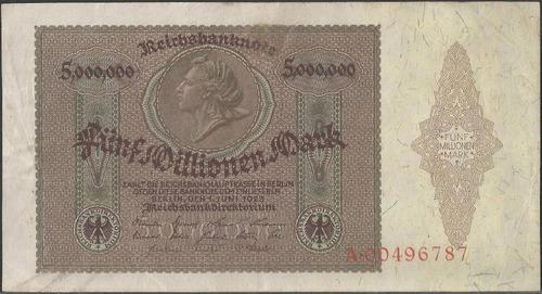 Alemania 5000000 Mark 1 Jun 1923 P90