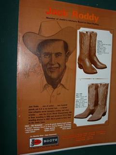 Cowboys Clipping Publicidad Western Botas Texanas Justin