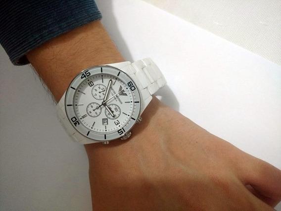 Relógio Armani Grande Cerâmica Omega Longines Mido Oferte!!!