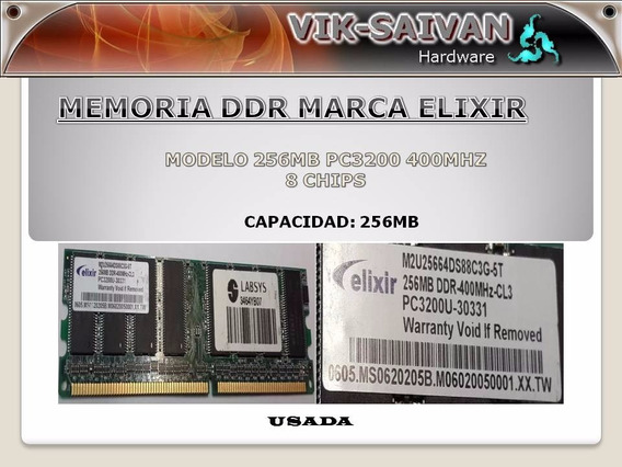 Memoria Ddr Elixir 256mb Pc-3200 400mhz 8 Chips 27