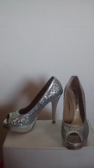 Zapatos De Noche, Con Mucho Estilo Y Glamour (sin Uso)