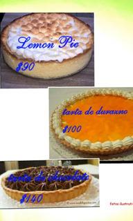 Tartas De Durazno Y Tarta De Chocolate Y Lemon Pie