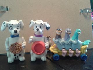 Lote De Tres Figuras De Colección De Walt Disney.