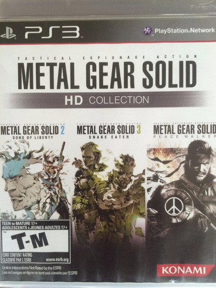 Jogo Ps3 - Metal Gear Solid - Hd Collection (3 Em 1)