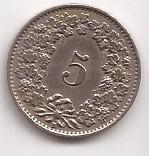 Suiza Moneda De 5 Rappen Año 1931