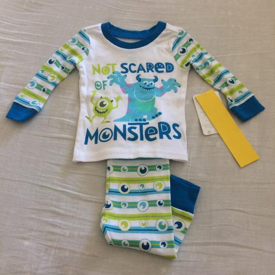 Pijama Disney Monsters. Talla 9-12 Meses