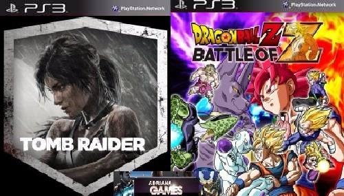 Dragon Ball Z Battle Of Z + Tomb Raider Ps3 Psn Frete Grátis