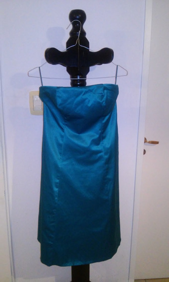 Vestido De Fiesta Strapless. Talle M