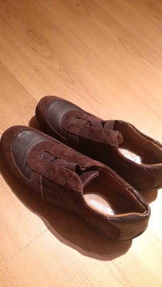 Palermo-sin Uso - Zapatillas Mujer Talle 35 Gamuzada Marron