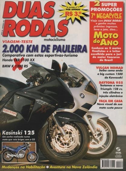 Duas Rodas N°286 Honda Cbr 1100 Xx Bmw K 1200 Rs Daytona 955