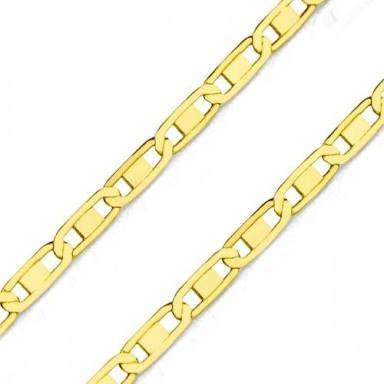 Cordao Corrente Piastrine 60 Cm Banhado Ouro18 Identico Ouro