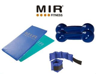 Promo Kit Fitness:colchoneta+2 Pesas Goma 1kg+tobilleras 1kg