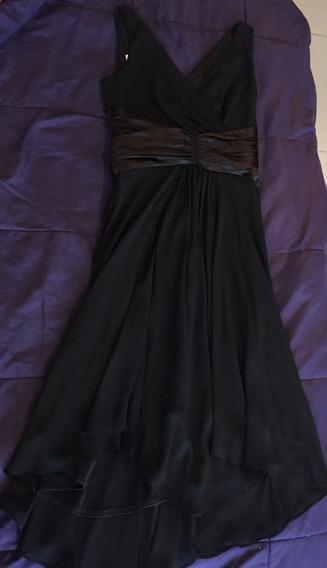 Vendo Hermoso Vestido De Noche 3/4 Negro Usado Talla 6