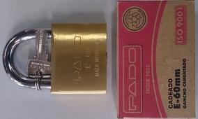 Cadeado Pado E-60mm Aço Inox E Aço Carbono Novo