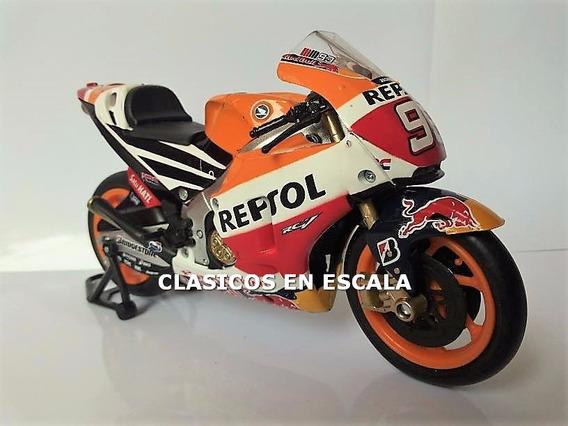 Honda Rc213 Repsol Red Bull Marc Marquez - Moto New Ray 1/12