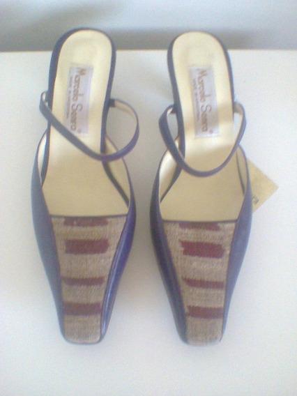 Zapatos De Diseño Marcelo Senra Talle 37 Nuevos Horma Chica