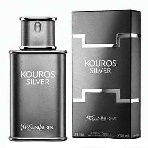 Kouros Silver Yves Saint Laurent - Perfume Masculino - Eau De Toilette 100ml