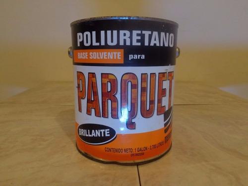 Poliuretano Parquet Base Solvente 1/4 De Galon