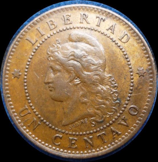 Argentina Un 1 Centavo Patacón 1895 Var.cj# 50.1 S/circ +