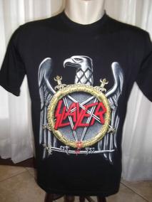 Camisa Slayer 100% Em Algodao Fino Acabamento !!!!!