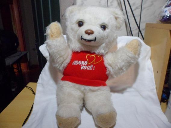 Pelucia Urso Lionella Adoro Voce Usado 35 Cm