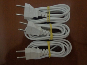 Cabo De Força Flexível Com Plug Injetado (3 Unidades)