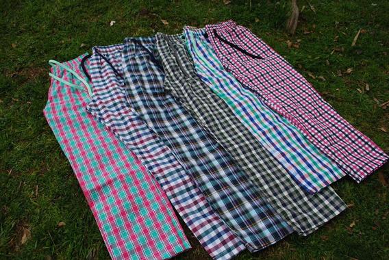 Pantalónes Pijama 100% Algodón Unisex Cuadrillé Escoces Pant