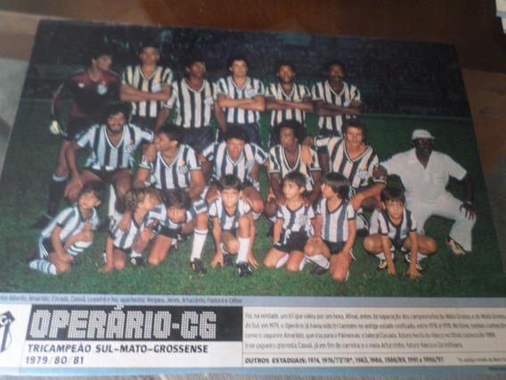 Poster Operário Campeão Mato Grosso Sul 1981 Placar 21x27 Cm