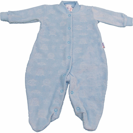 Roupa De Bebê Macacão Longo Básico De Plush Trabalhado